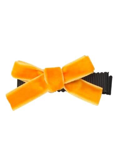 2 rich orange Alloy Fabric Cute Bowknot  Multi Color Hair Barrette
