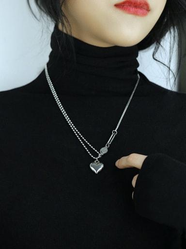 1802 love letter Titanium Steel Locket Hip Hop Necklace