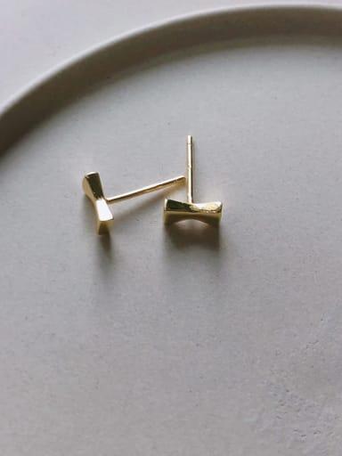 925 Sterling Silver Cubic Zirconia Red Geometric Cute Stud Earring