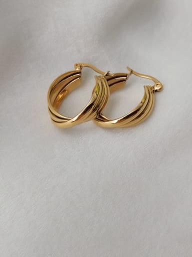 Titanium Steel Geometric Minimalist Hook Earring