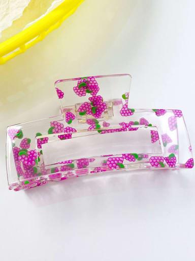 Grape 10.5cm Acrylic Minimalist Geometric Alloy Multi Color Jaw Hair Claw