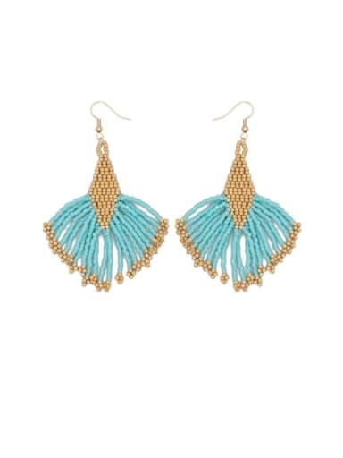 Stainless steel Multi Color Miyuki beads Geometric Bohemia Hook Earring