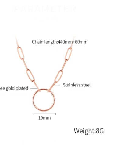 1996 [rose gold necklace] Titanium Steel Minimalist Geometric Pendant