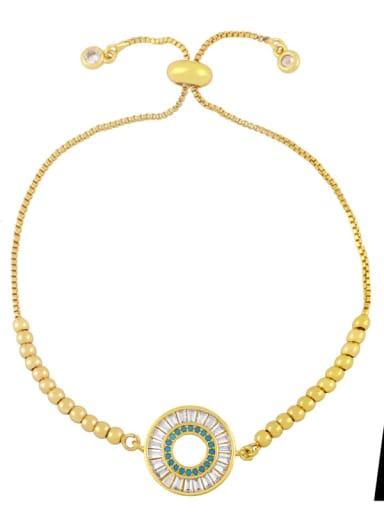 A Brass Cubic Zirconia Butterfly Vintage Adjustable Bracelet