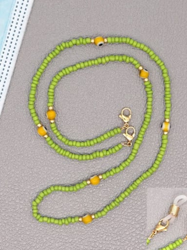 GZ N200002D Stainless steel Bead Multi Color Evil Eye Bohemia Hand-woven Necklace