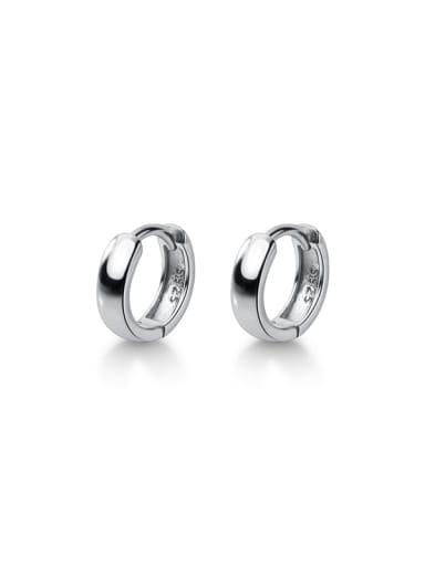 925 Sterling Silver Round Minimalist Huggie Earring