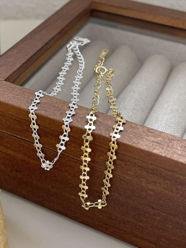 925 Sterling Silver Flower Vintage Bracelet