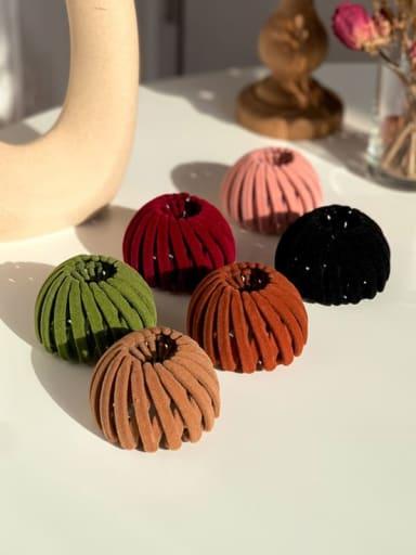 Flocking hair clip Ball head Horsetail Hair Ring