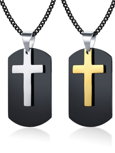 Stainless steel Cross Vintage Regligious Necklace