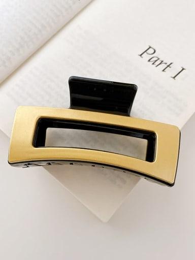 Black gold silver 8.5cm Alloy Resin Minimalist Geometric  Jaw Hair Claw