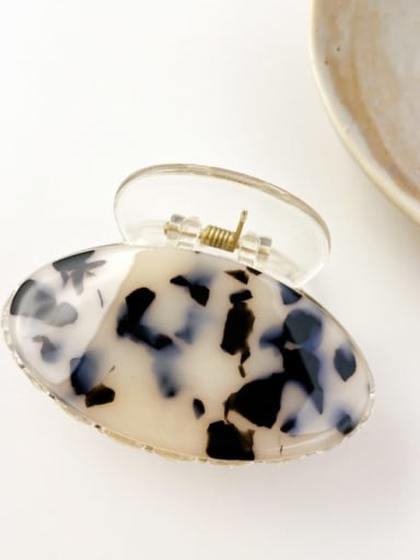Hawksbill shell 7cm Cellulose Acetate Minimalist Oval Alloy Multi Color Jaw Hair Claw