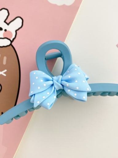 Blue 13cm Alloy Resin Silk Trend Bowknot  Jaw Hair Claw