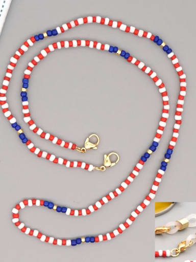 GZ N200005A Stainless steel Multi Color TOHAO  Bead  Bohemia Hand-woven Necklace