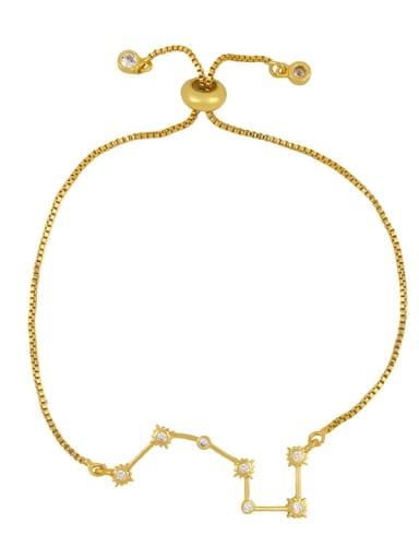 Alloy Cubic Zirconia Star Minimalist Link Bracelet