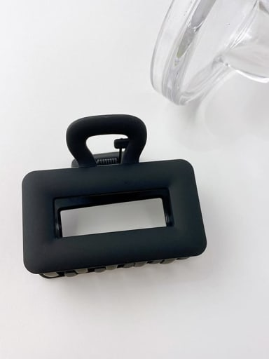 3 rectangular 6.5cm Alloy Resin Minimalist Geometric  Multi Color Jaw Hair Claw