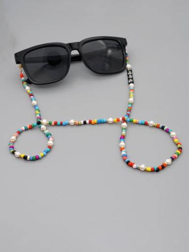 ZZ N200049A Stainless steel Bead Multi Color Acrylic Letter Bohemia Necklace