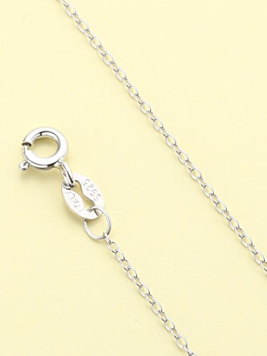 White Gold Cross Chain 925 Sterling Silver Minimalist  Chain