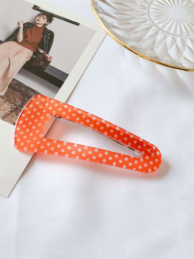 Orange dot Alloy Enamel Minimalist Water Drop  Hair Barrette