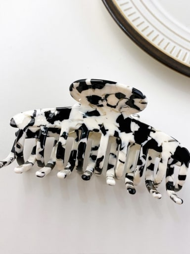 Cow pattern 10cm Cellulose Acetate Minimalist Geometric Alloy Multi Color Jaw Hair Claw