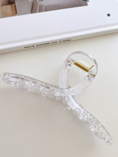 ABS transparent 13cm Alloy Resin Minimalist Geometric  Jaw Hair Claw