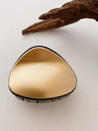 Black gold 5.5cm Alloy Resin  Minimalist TriangleJaw Hair Claw