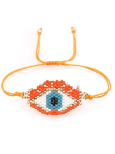 Multi Color MiyukiDB Evil Eye Bohemia Handmade Weave Bracelet