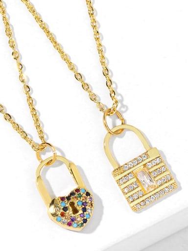 Alloy Cubic Zirconia Key Vintage Necklace
