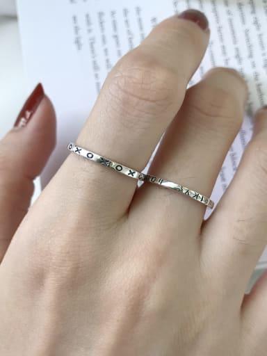 925 Sterling Silver Letter Vintage Signet Ring