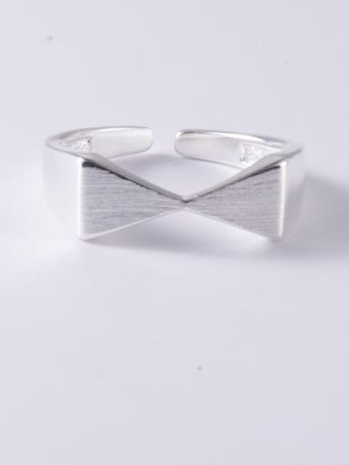 925 Sterling Silver Smooth Bowknot Minimalist Band Ring