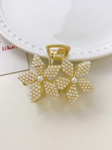 Small flower 5.2cm*4cm Alloy Imitation Pearl Cute Flower  Jaw Hair Claw