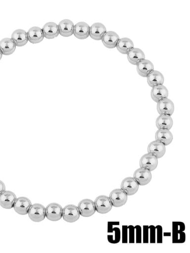 Steel  5mm Brass Ball Minimalist Bead Chain