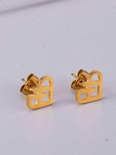 Titanium Steel Heart Minimalist Stud Earring