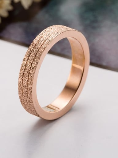 Titanium Steel Round Minimalist Stackable Ring