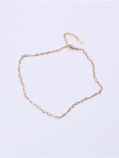 Titanium Minimalist Hollow Heart  Chain