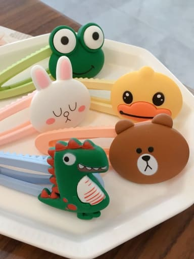 Alloy Resin Bear Bunny Dinosaur Fruit Cartoon Clip BB Clip