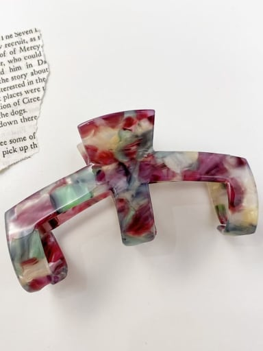 Seven color 9cm Cellulose Acetate Minimalist Irregular Alloy Multi Color Jaw Hair Claw
