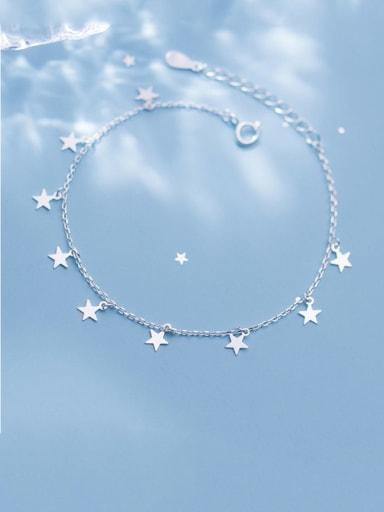 925 Sterling Silver Star Minimalist Link Bracelet