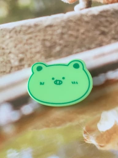 Green pig Alloy Cellulose Acetate Cute Animal Frog  Hair Barrette