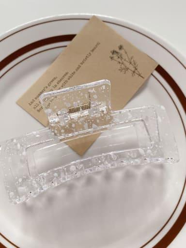 White 10.5cm Acrylic Minimalist Geometric Alloy Jaw Hair Claw