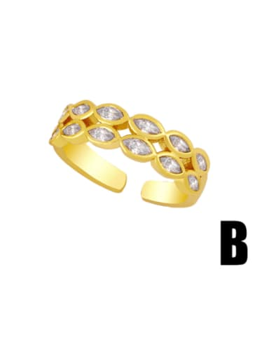 B Brass Smiley Hip Hop Band Ring