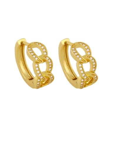 white Brass Cubic Zirconia Geometric Bohemia Stud Earring