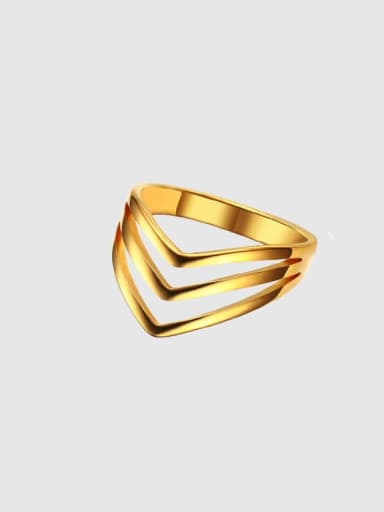 Arrow gold Stainless steel Geometric Minimalist Band Ring