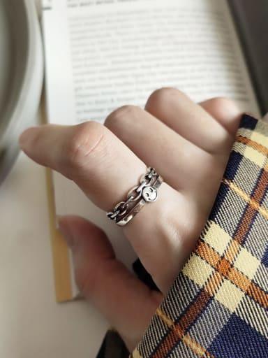 925 Sterling Silver smile Artisan Signet Ring