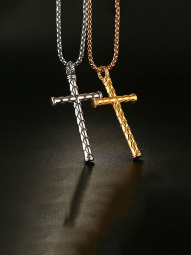Stainless Steel Cross Minimalist Regligious Necklace