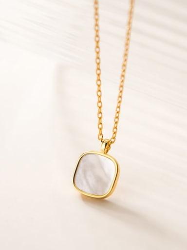 925 Sterling Silver Cats Eye Geometric Minimalist Necklace
