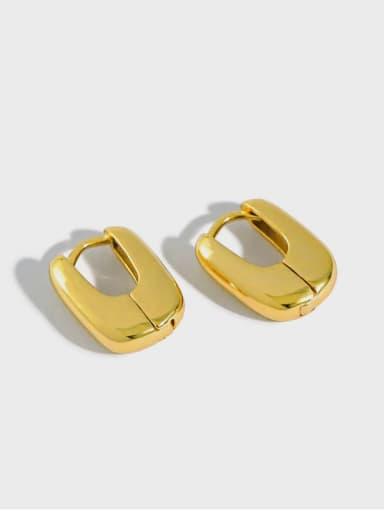 925 Sterling Silver Rectangle Minimalist Stud Earring