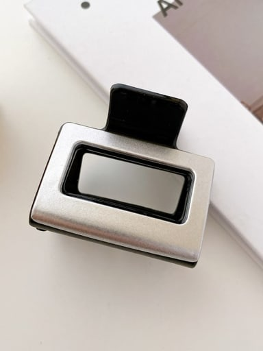 Black white 5cm Alloy Resin Minimalist Geometric Multi Color Jaw Hair Claw