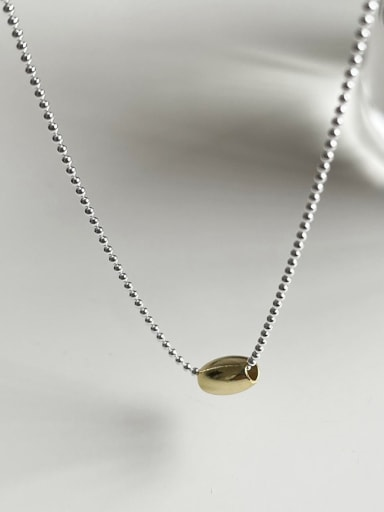 925 Sterling Silver Cone Minimalist Beaded Necklace