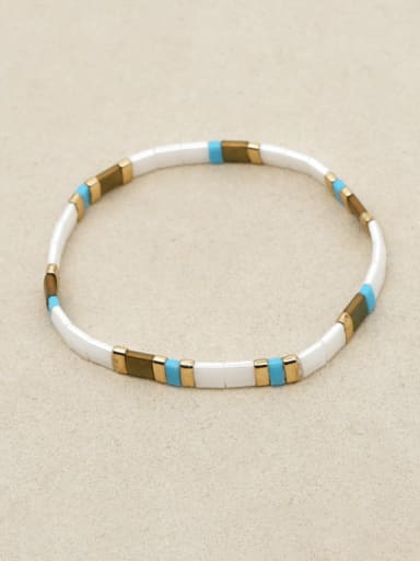 Tila beads Shell  Bohemia Geometry Adjustable Bracelet