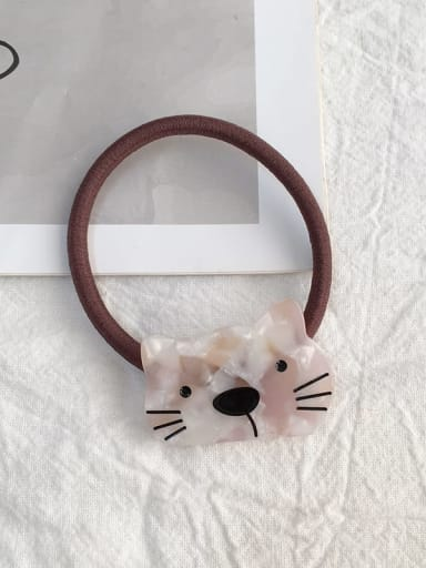 Kitten Pink Cellulose Acetate Cute Cat Hair Rope